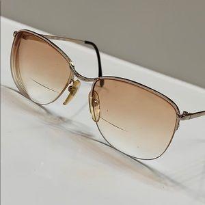 Vintage Fratelli Loza Eyeglass Frame Half Rim Gold